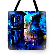 Night Walking In New Orleans Tote Bag