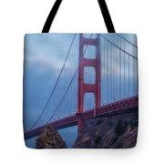 Nightfall Over Golden Gate Tote Bag