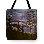 Nightime Rangely Lake Maine Tote Bag