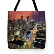 Nightlife On Robson Street Tote Bag