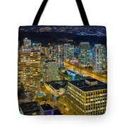 Nightlife On The Other End Of Robson Street Tote Bag