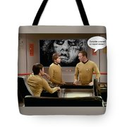 Nightmare At 20,000 Light-years Tote Bag