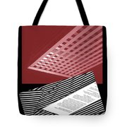 Striped Dreams Of Hubert Humphrey Tote Bag