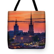 Nightsky Over Stockholm Tote Bag