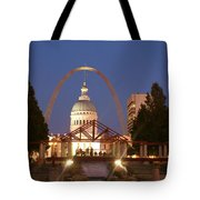 Nighttime At The Arch Tote Bag