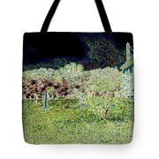 Nighttime In The Church Graveyard Tote Bag