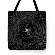 Nighttime Spider And Web Tote Bag