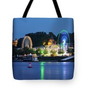 Nijmegen Along The Waal River With A Fairground Tote Bag