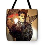Nikola Tesla At Wardenclyffe Tote Bag