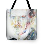 Nikola Tesla - Watercolor Portrait.3 Tote Bag