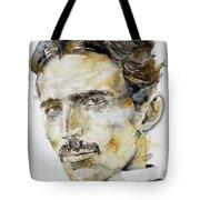 Nikola Tesla - Watercolor Portrait.6 Tote Bag