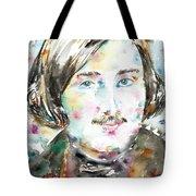 Nikolai Gogol - Watercolor Portrait Tote Bag