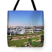 Nile Cruise Ships Aswan Tote Bag