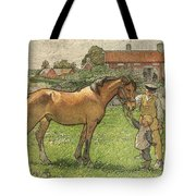 Nils Kreuger, 1858-1930, Brunte Picked Up On Sunday Morning Tote Bag