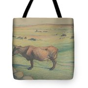 Nils Kreuger, 1858-1930, Cow In The Meadow Tote Bag