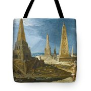 Nimrod Amongst The Monuments Tote Bag