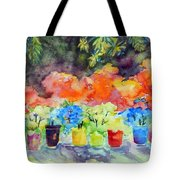 9 Potted Plants Tote Bag