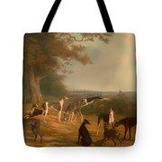 Nine Greyhounds In A Landscape Tote Bag