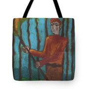 Nine Of Wands Illustrated Tote Bag