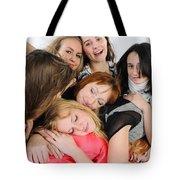 Nine Young Women Tote Bag