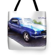 Nineteen Sixty-five Mustang Tote Bag