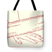 Ninth Station- Jesus Falls The Third Time Tote Bag