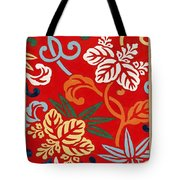 Nishike Brocade With Paulownia Arabesque Tote Bag