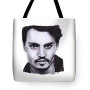 Johnny Depp Drawing By Sofia Furniel Tote Bag