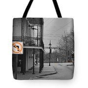 No Left Turn - Selective Color Tote Bag