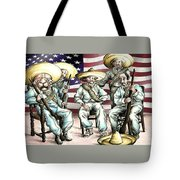 No Mexican Wall, Mister Trump - Political Cartoon Tote Bag