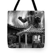 No Reservations Bw Dinosaur Deys Tote Bag