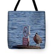 No Swimming Tote Bag