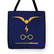 No101-1 My Hp - Sorcerers Stone Minimal Movie Poster Tote Bag