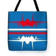 No128 My Top Gun Minimal Movie Poster Tote Bag