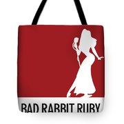No14 My Minimal Color Code Poster Jessica Rabbit Tote Bag