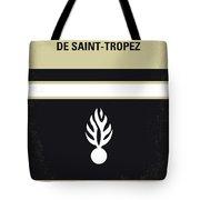 No186 My Le Gendarme De Saint-tropez Minimal Movie Poster Tote Bag