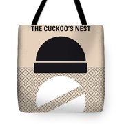 No454 My One Flew Over The Cuckoos Nest Minimal Movie Poster Tote Bag
