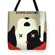 No893 My A Futile And Stupid Gesture Minimal Movie Poster Tote Bag