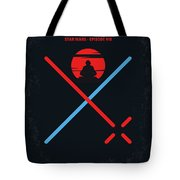 No940 My Star Wars Episode Viii The Last Jedi Minimal Movie Poster Tote Bag
