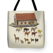 Noah's Ark And Animals Tote Bag