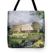 Noahs Ark Tote Bag by Currier and Ives