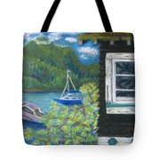 Noble Cottage At The Lake Tote Bag