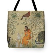 Noble Woman In A Garden Tote Bag