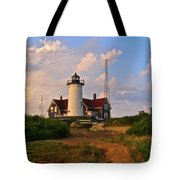 Nobska Lighthouse Tote Bag