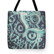 Nocturnal The Blue Owl Tote Bag