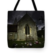 Norman Church At Lissing Hampshire England Tote Bag