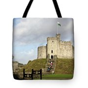 Norman Keep At Cardiff Castle Tote Bag