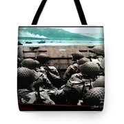 Normandy Soldiers Tote Bag