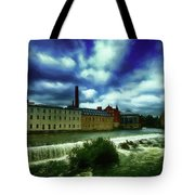 Norrkoping Waterfall Tote Bag