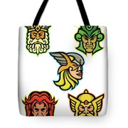 Norse Gods Mascot Collection Tote Bag